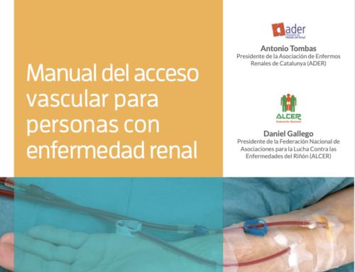 La Fundación colabora en el Manual de Acceso Vascular para Personas con Enfermedad Renal editado por el GEMAV