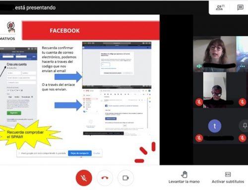 Nuestros pacientes aprenden a manejar Facebook en un taller organizado con la Fundación Cibervoluntarios